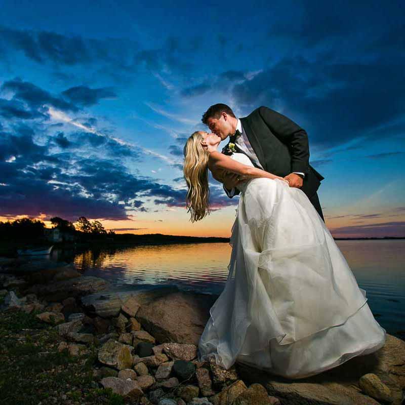Billeder af brudeparret