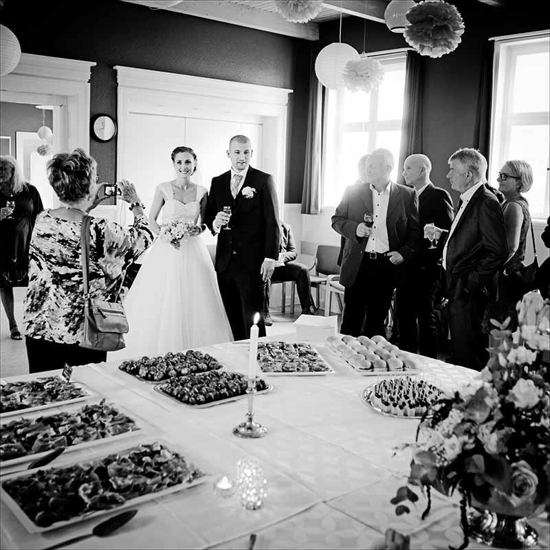 lykønske bruden og brudgommen